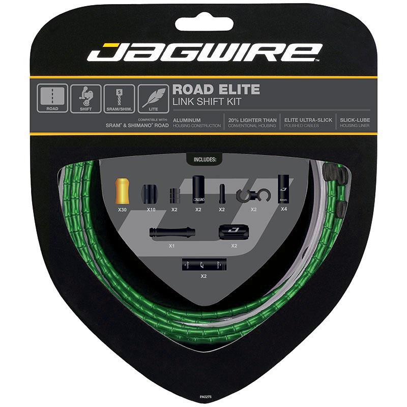 Jagwire Road Elite Link Shift - Schaltzugset - 2019 - limited green