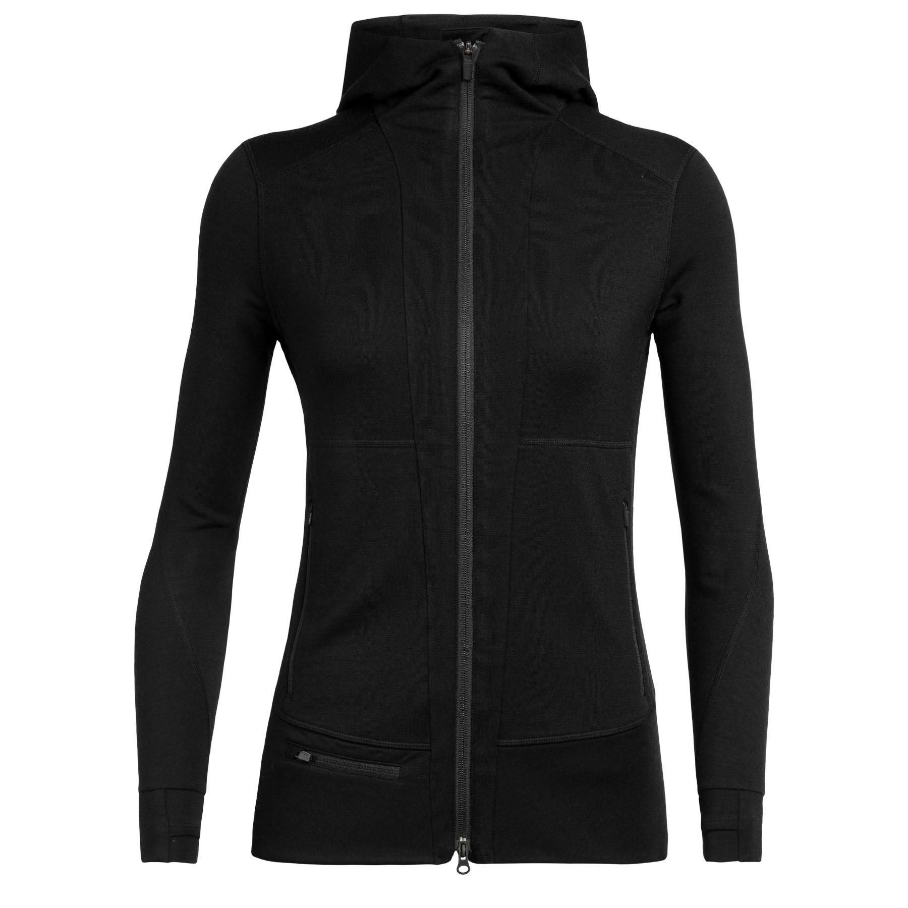 Produktbild von Icebreaker Quantum II Zip Hood Damen Kapuzenjacke - Black