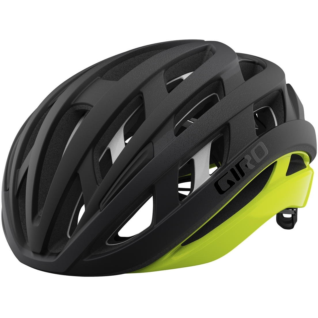 Giro Helios Spherical MIPS Helm - matte black fade / highlight yellow