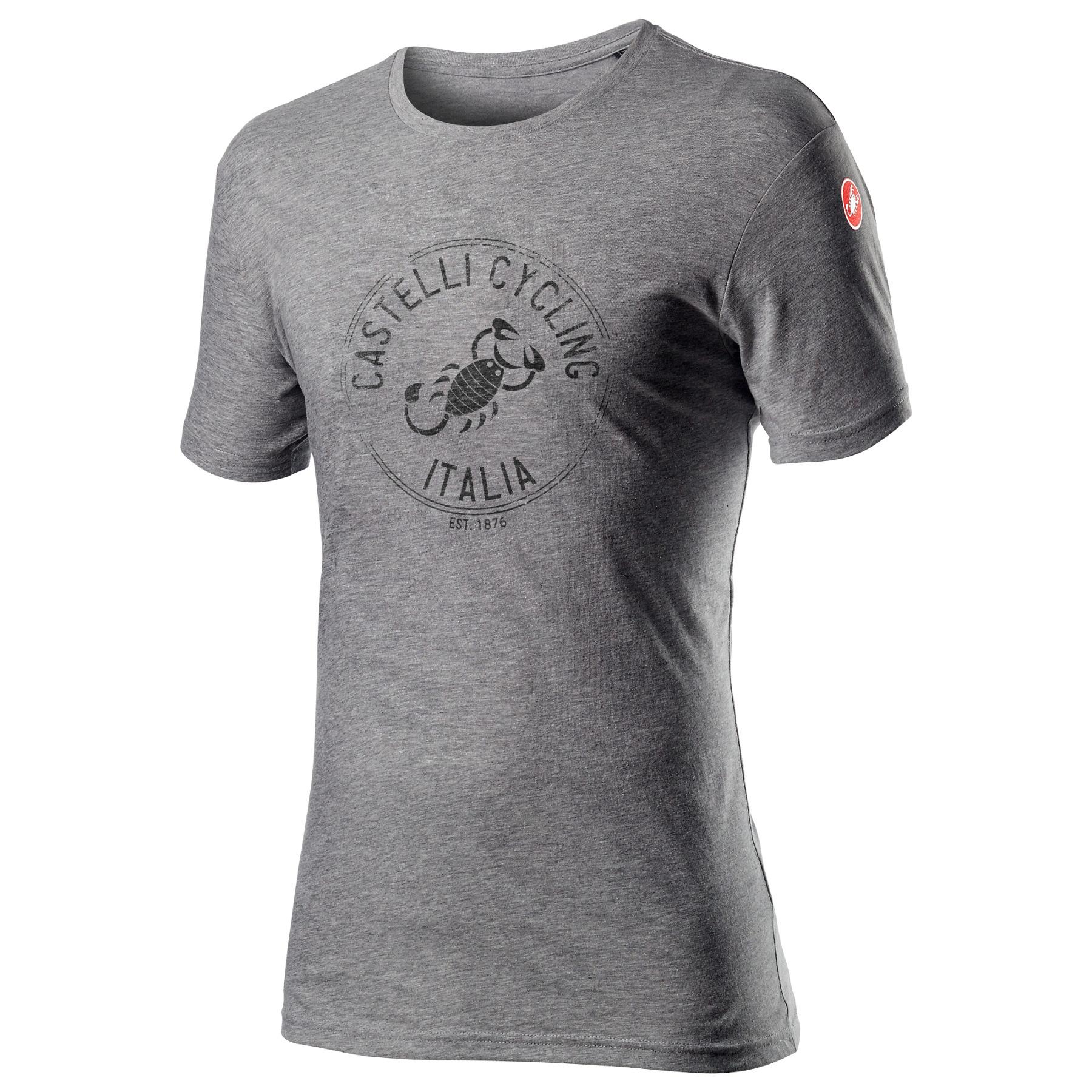 Castelli Armando T-Shirt - melange vortex grey 860