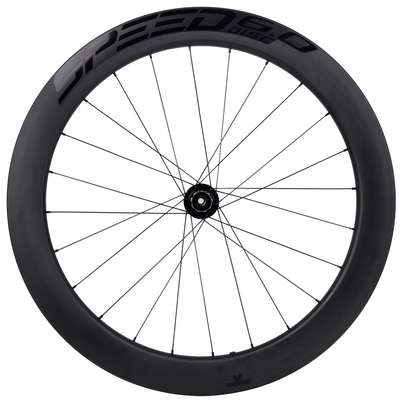 Veltec Speed 6.0 Disc Carbon Hinterrad - Drahtreifen - 12x142mm - schwarz mit schwarzen Decals