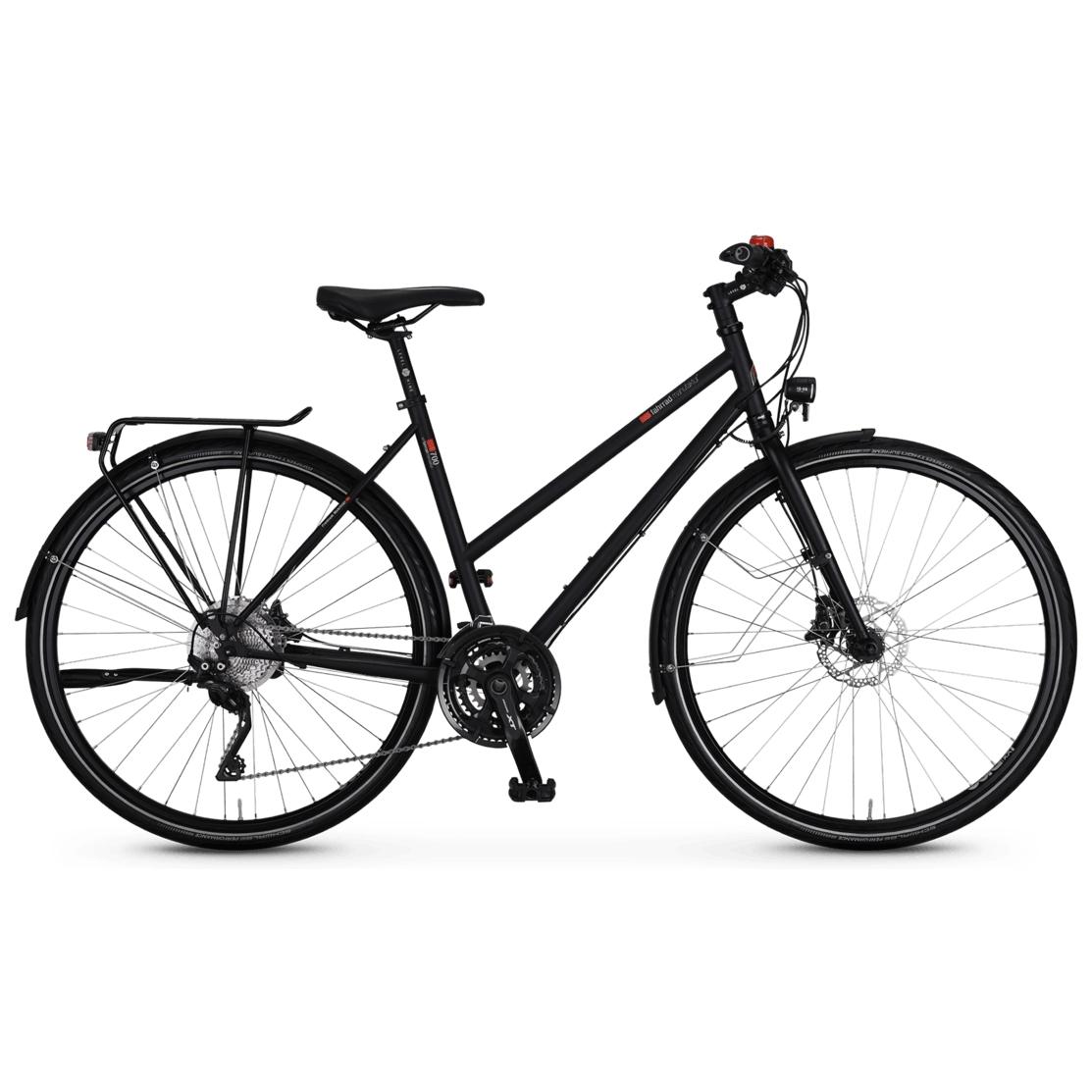 vsf fahrradmanufaktur T-700 Disk XT - Damen Trekkingrad - 2021 - ebony matt