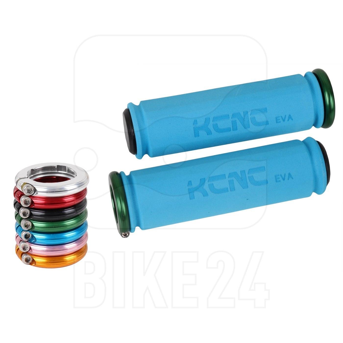 KCNC Lock-on Lenkergriffe mit Lockring - blau/farbig