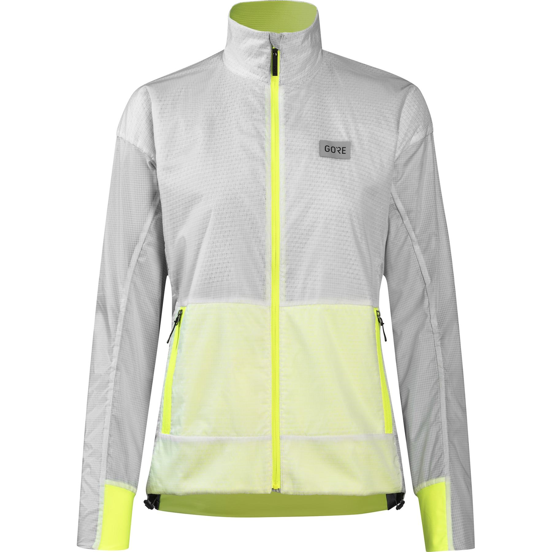 Produktbild von GORE Wear Drive Damen Laufjacke - weiß/neon gelb 0108