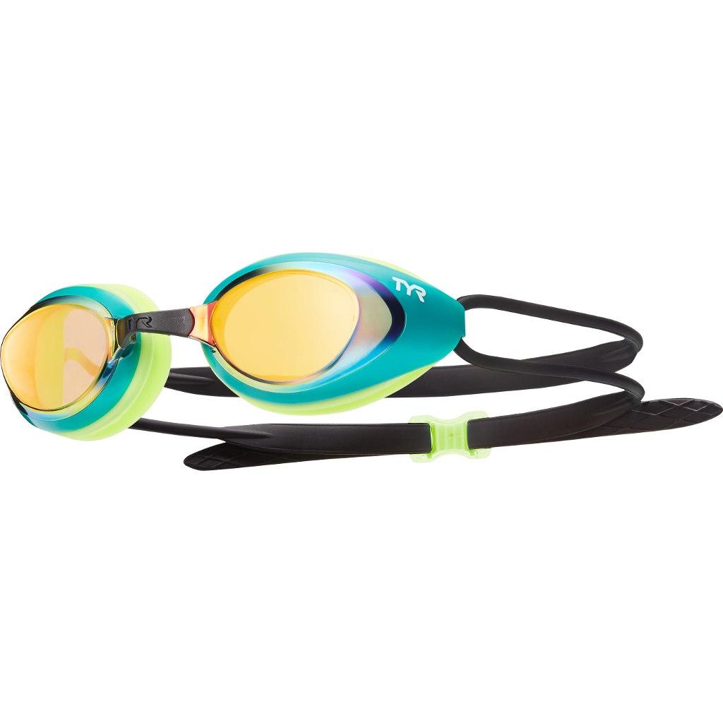 TYR Blackhawk Racing Mirrored Swimming Goggle - gold/green/fluo yellow