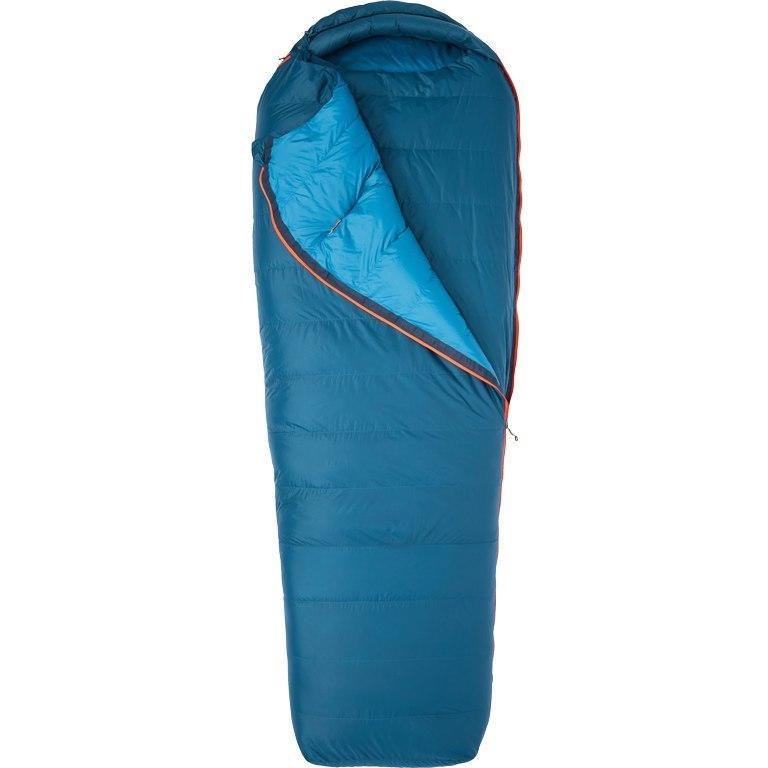 Marmot Yolla Bolly 15 Long Down Sleeping Bag - zip left - denim/atlantic