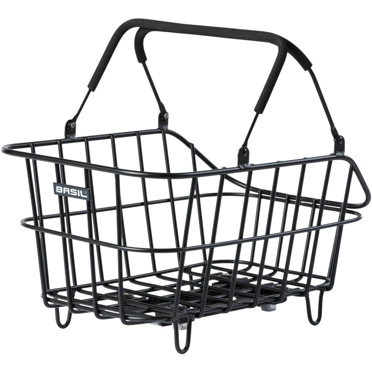 Basil Cento Alu MIK Bike Basket - matt black