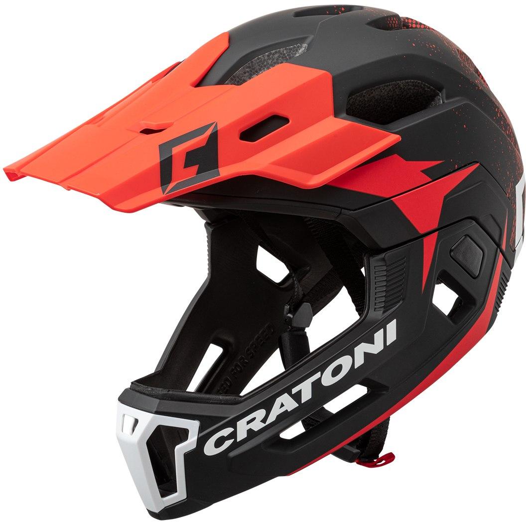 CRATONI C-Maniac 2.0 MX Fullface Helmet - black-red matt