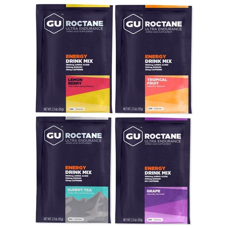 GU Roctane Energy Drink Mix - Carbohydrate Electrolyte Beverage Powder - 5x65g