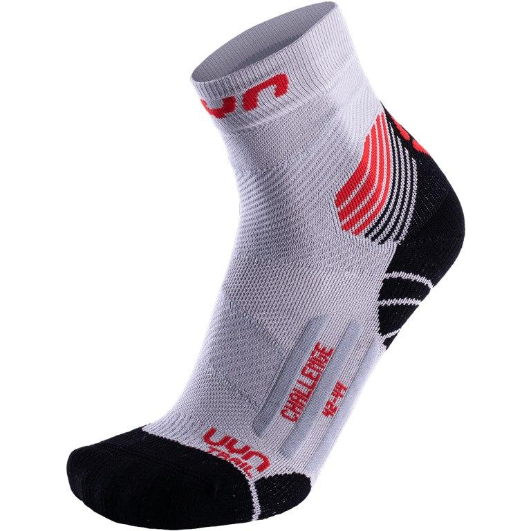 Bild von UYN Run Trail Challenge Socken - Pearl Grey/Red