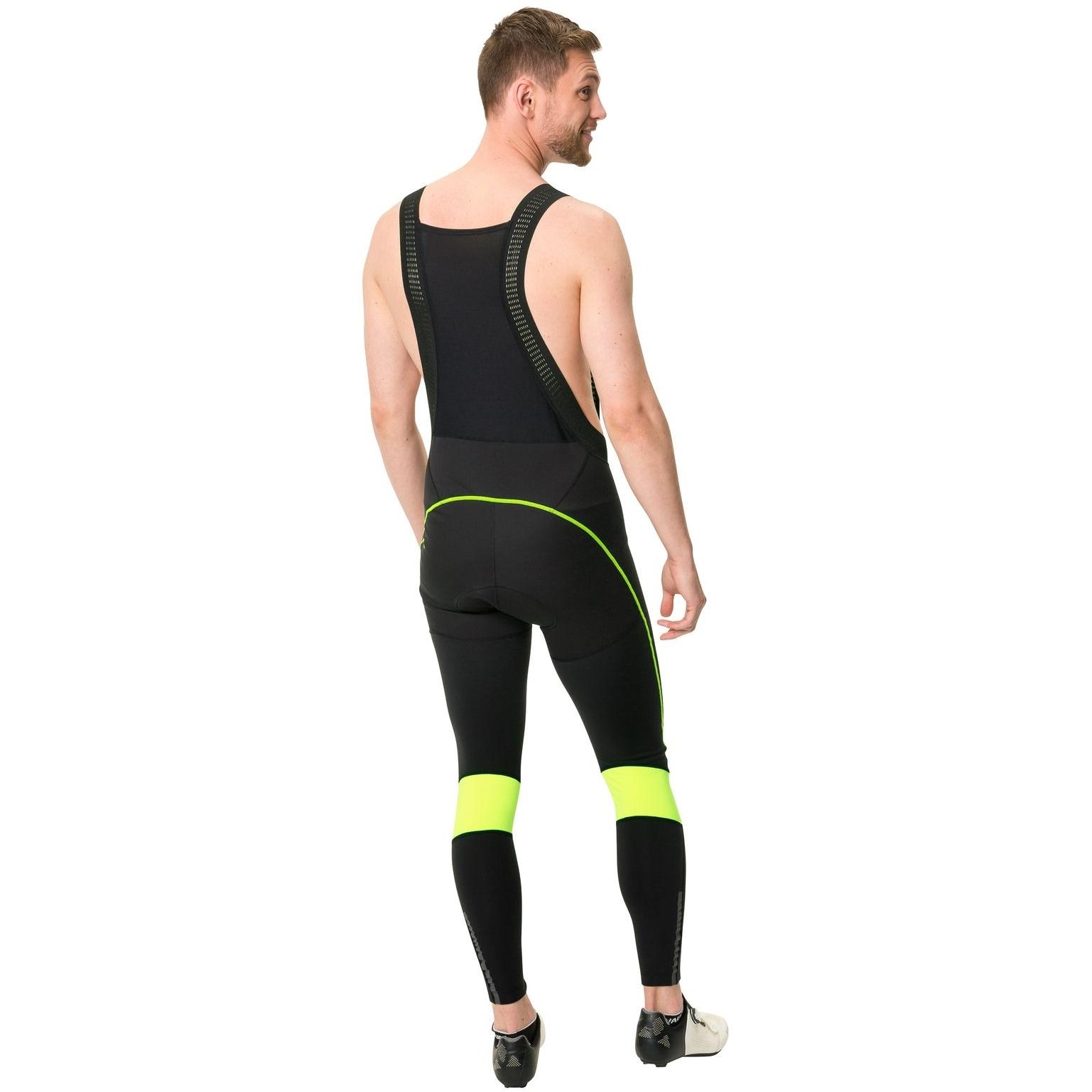 Image of Vaude Men's Kuro Warm Bib Tights - neon yellow