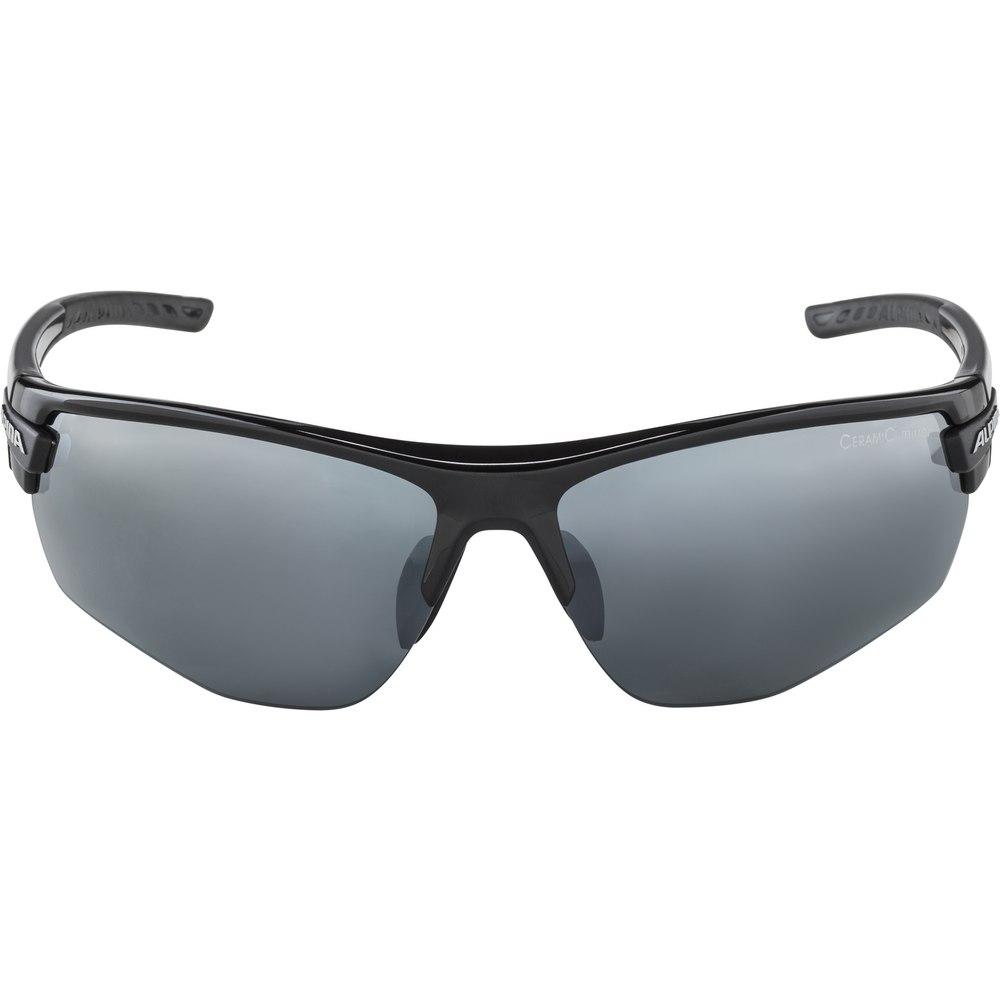 Alpina Tri-Scray 2.0 HR Glasses - black / Ceramic mirror black + mirror orange + clear