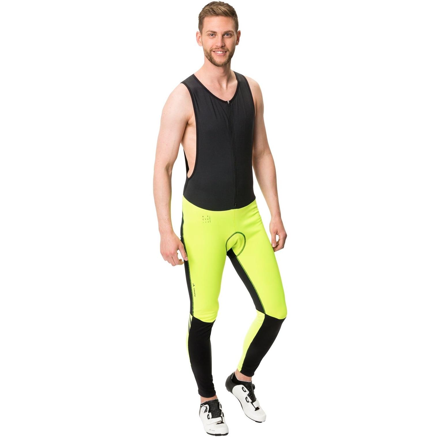 Image of Vaude Men's Posta Warm Bib Tights - neon yellow