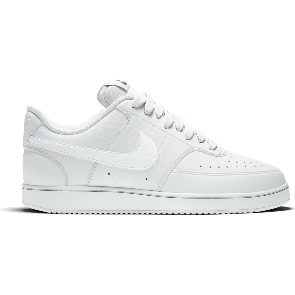 Nike Court Vision Low Herrenschuh - white/white-white CD5463-100