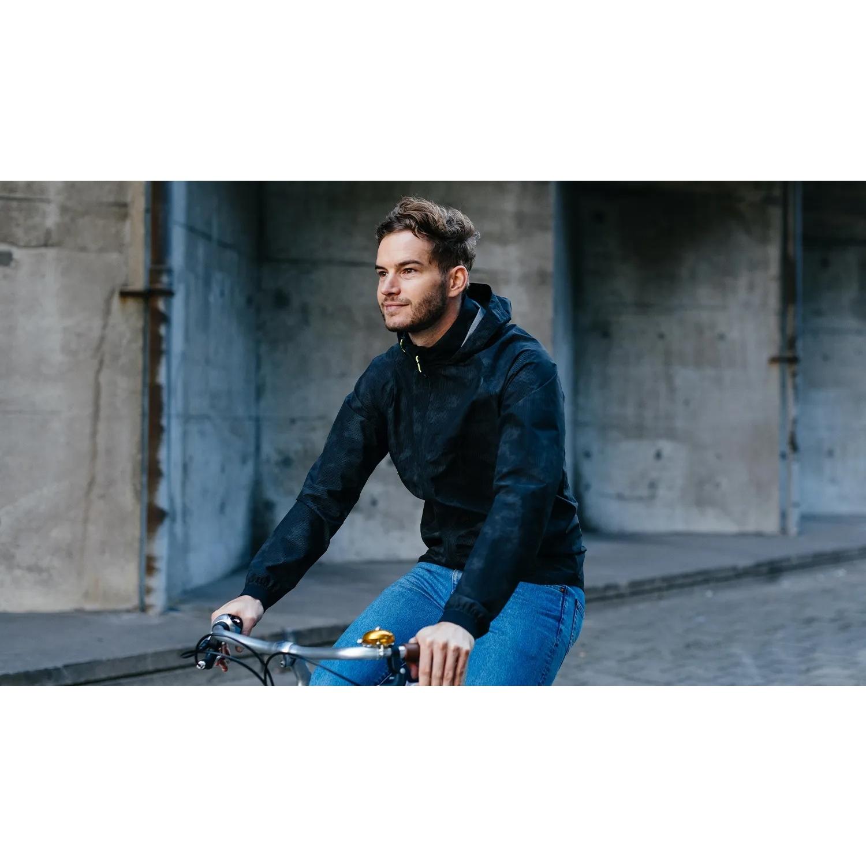 Image of AGU Commuter Compact Rain Jacket - reflection black
