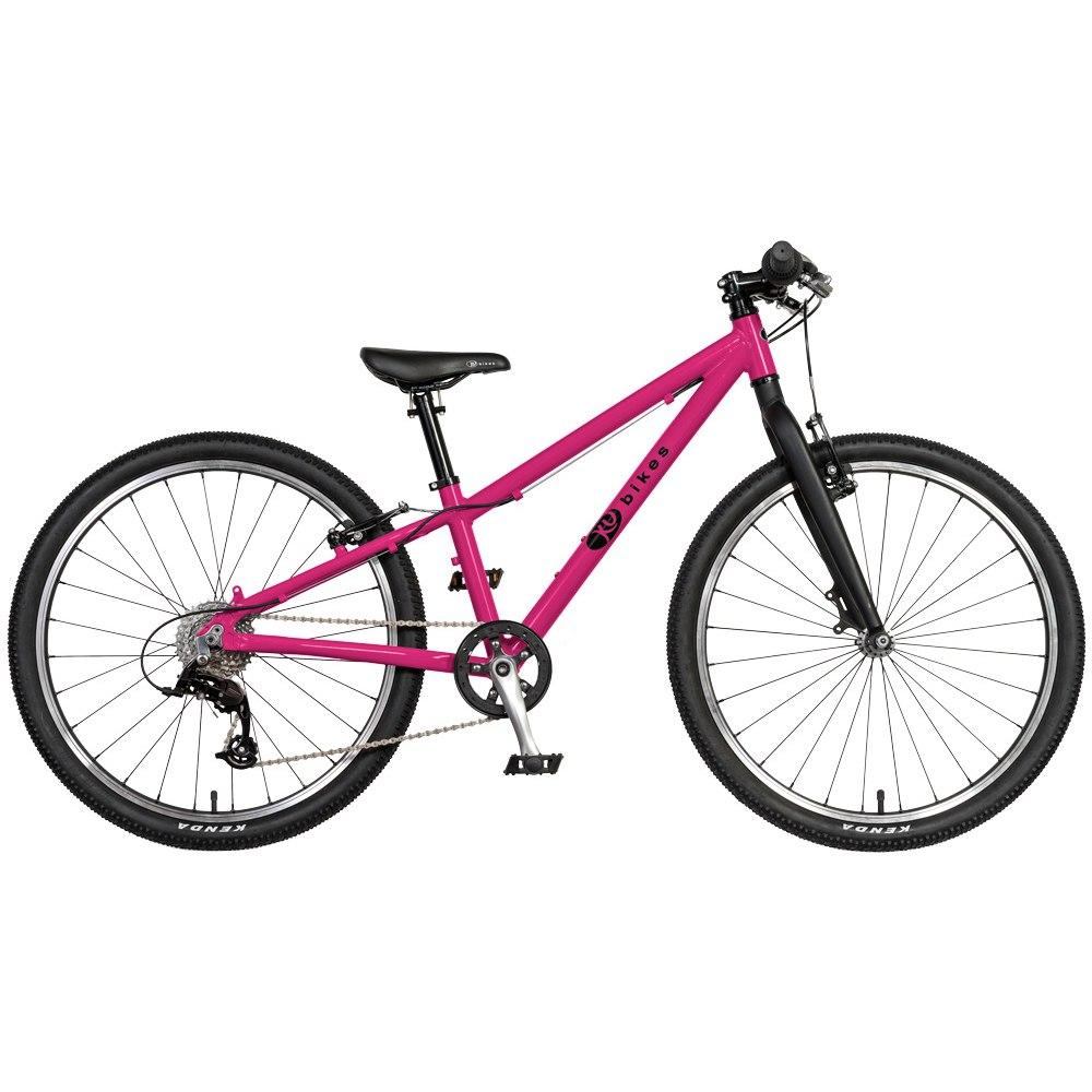 KUbikes 24S MTB 8-Gang Kinderfahrrad - pink Lasur