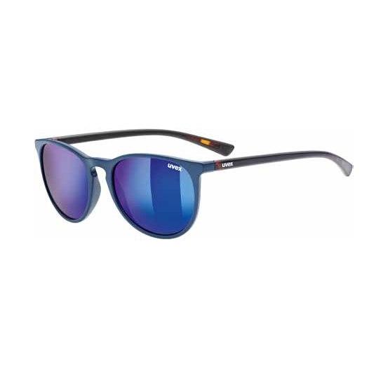 Uvex lgl 43 Brille - blue havanna/mirror blue