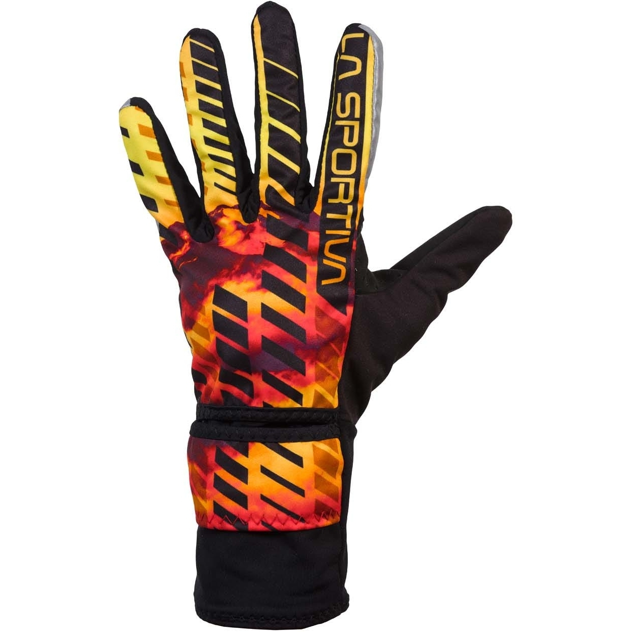 Image of La Sportiva Winter Running Gloves Evo - Black/Yellow