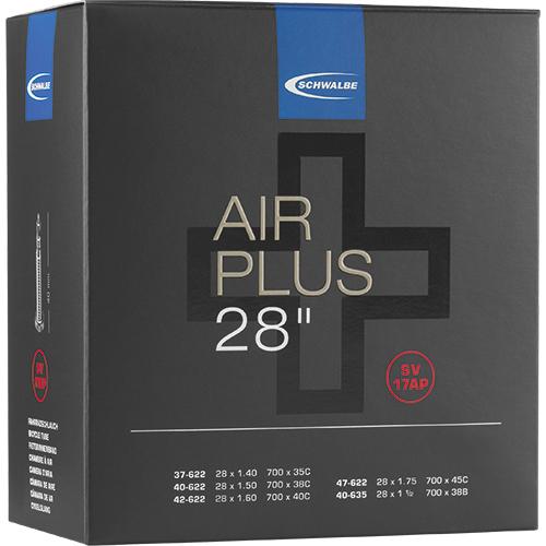 "Schwalbe Tube - Air Plus -  28"" (37/47-622/635) - SV 17AP - Presta-Valve"