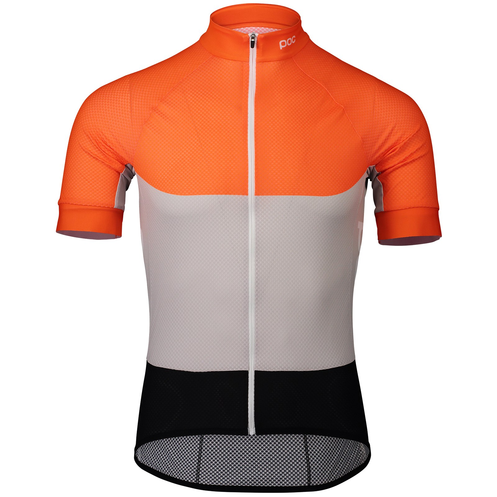 Produktbild von POC Essential Road Light Jersey Kurzarmtrikot - 8287 Granite Grey/Zink Orange