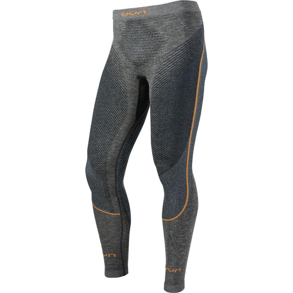 UYN Man Ambityon Pant Long Melange Unterhose lang - Black Melange/Atlantic/Orange Shiny