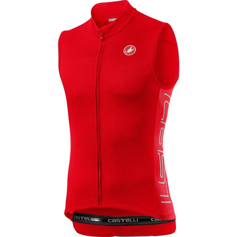 Castelli Entrata V Sleeveless Jersey 20019 - fiery red 656