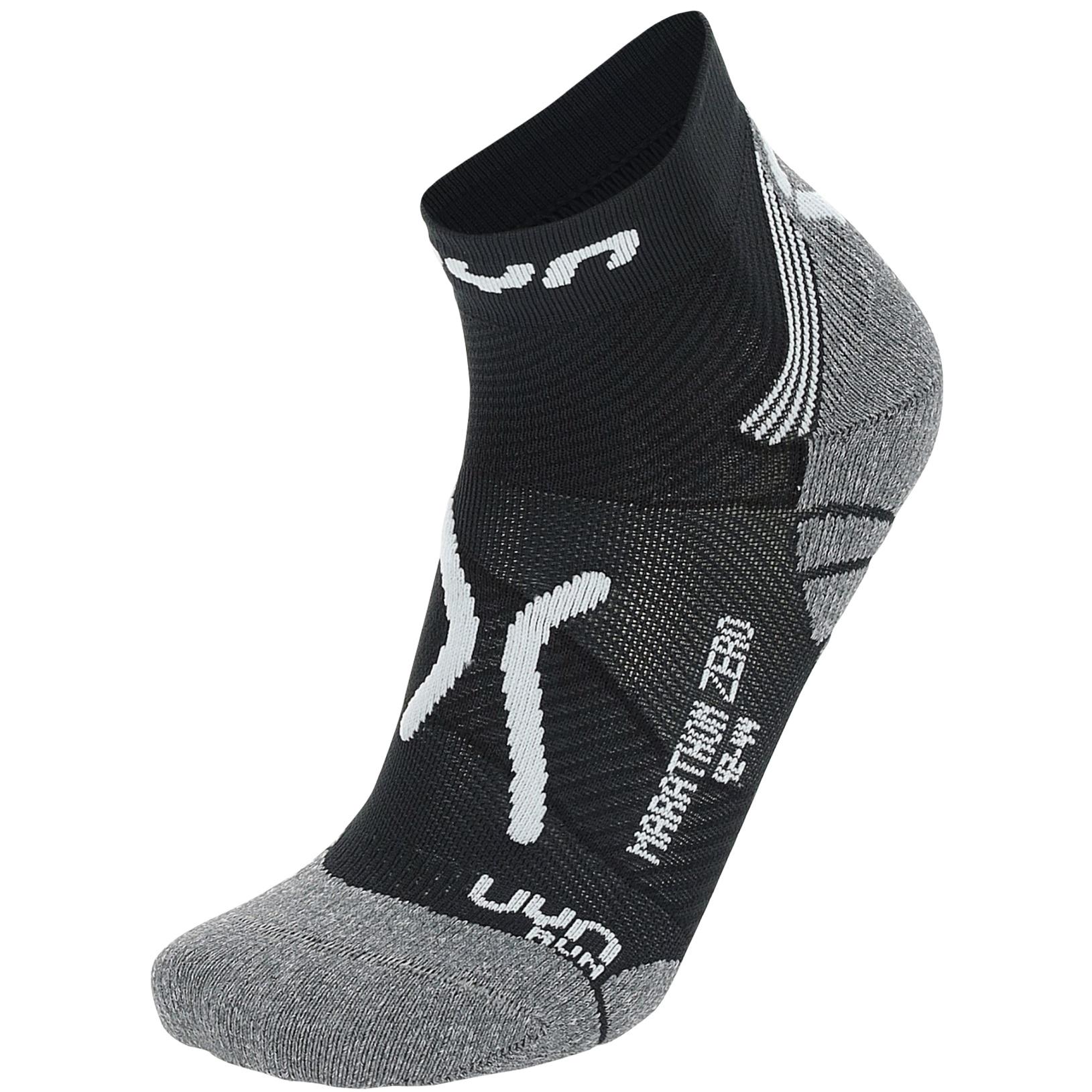 UYN Marathon Zero Herren Runningsocken - Black/White/Grey