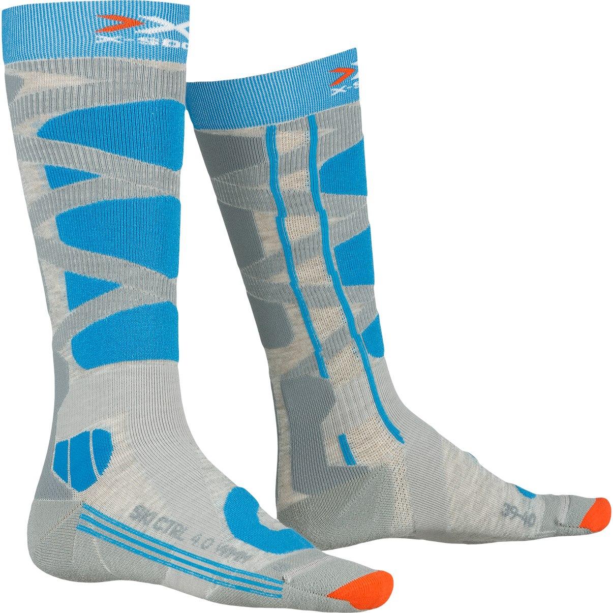 X-Socks Ski Control 4.0 Socken für Damen - grey melange/turquoise