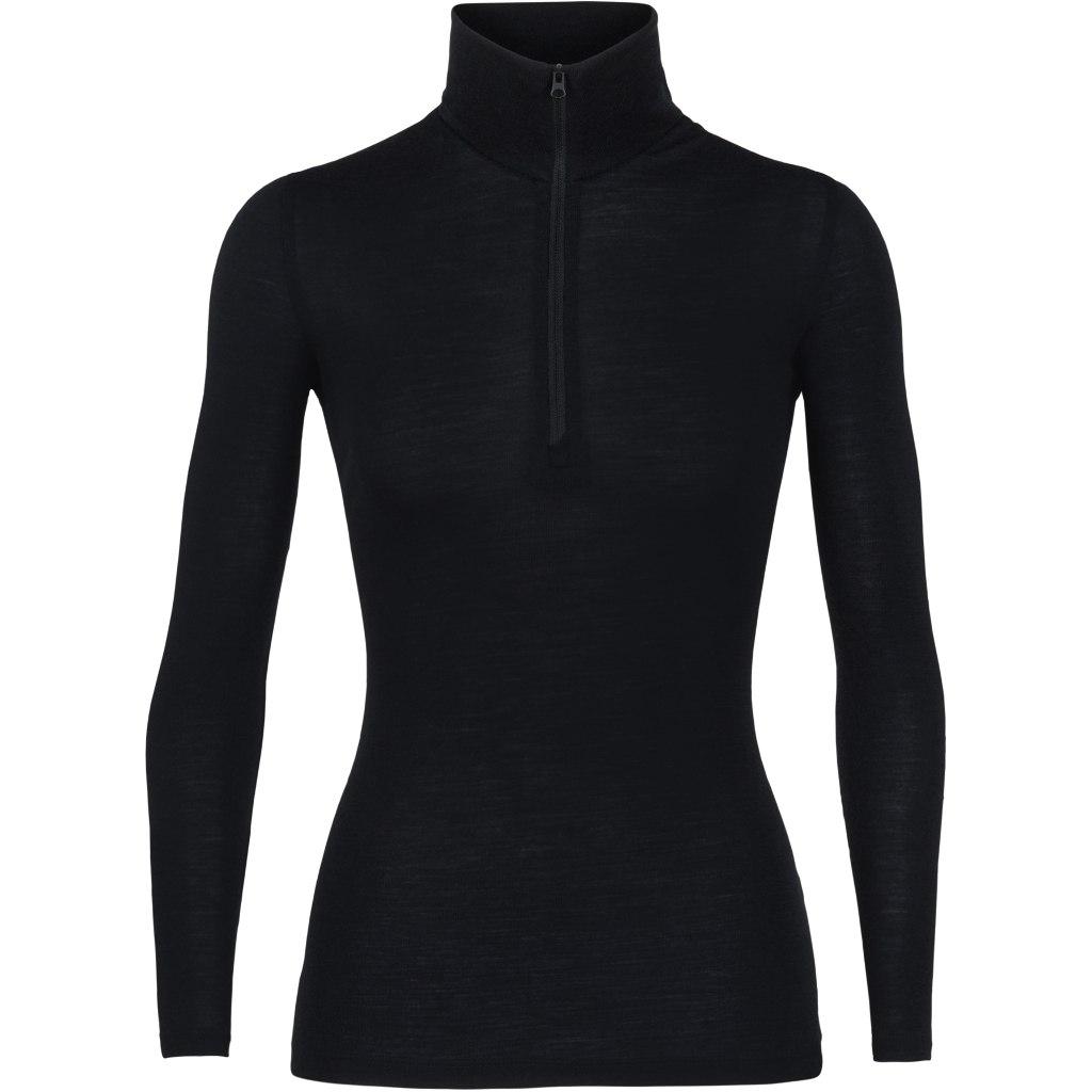 Icebreaker Womens 175 Everyday Long Sleeve Half Zip Undershirt - Black