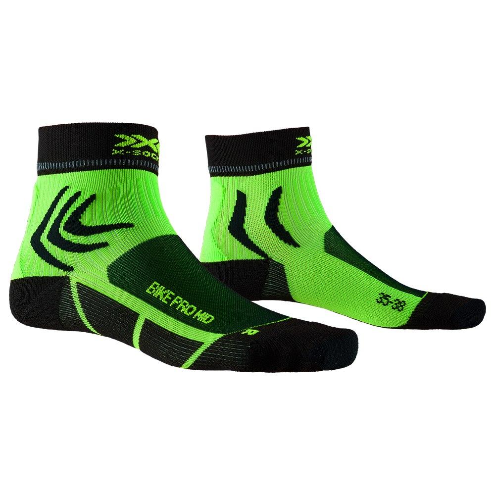 X-Socks Bike Pro Mid Socken - opal black/amazonas green