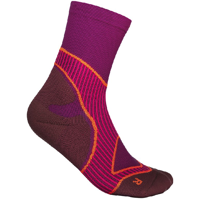 Bauerfeind Run Performance Mid Cut Socks Women - pink