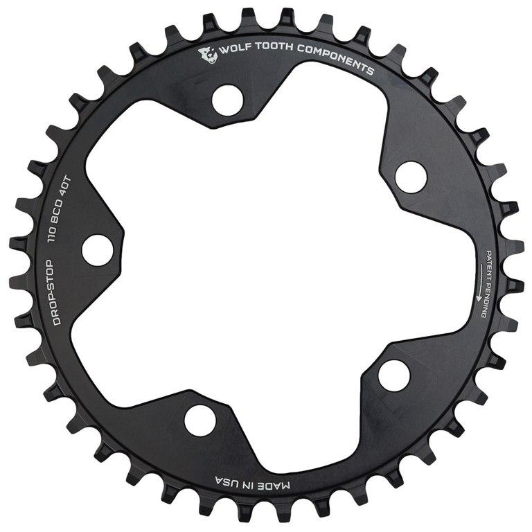 Bild von Wolf Tooth Single Road/Cyclocross Kettenblatt 110mm - Drop Stop - schwarz