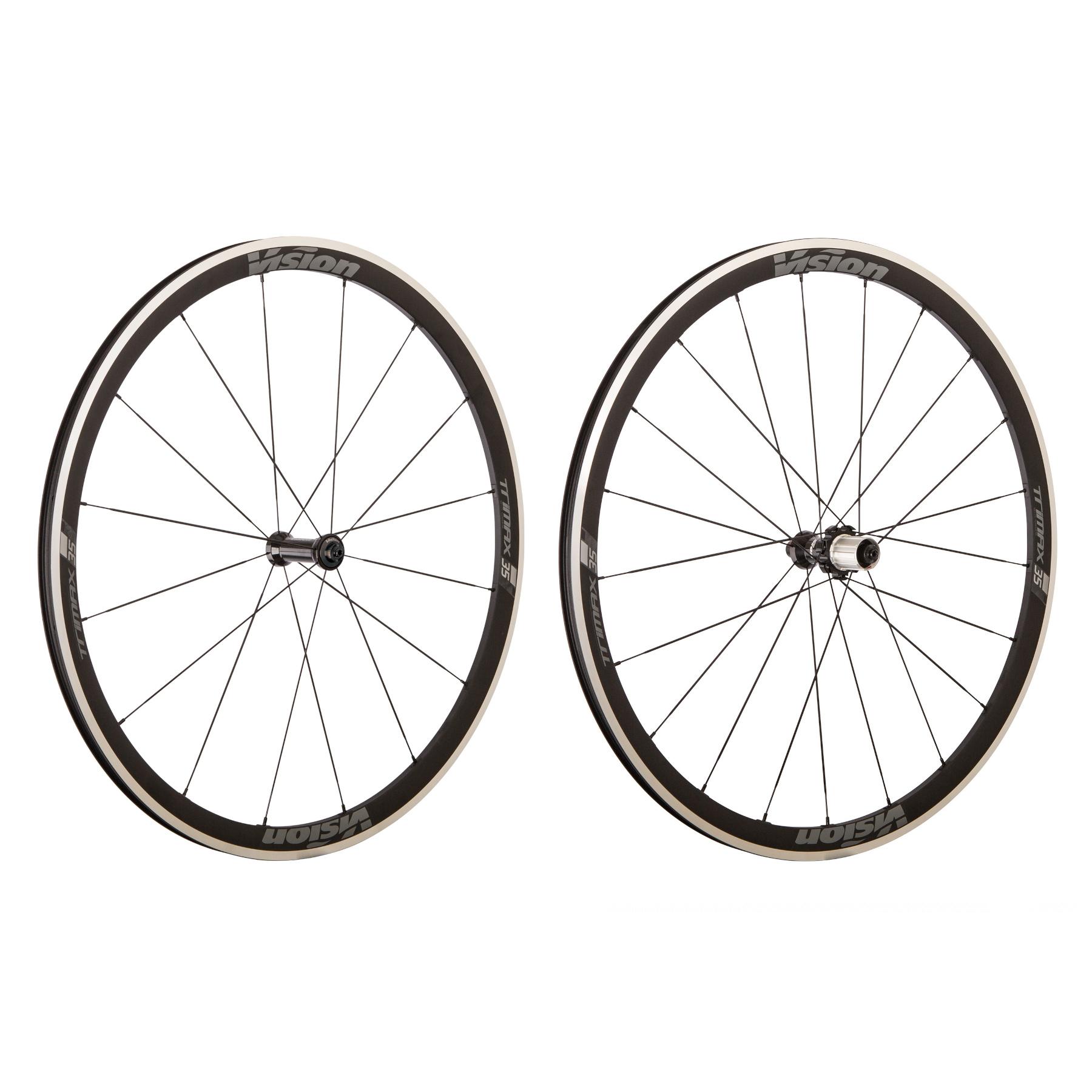 Vision Trimax 35 RB Laufradsatz - Drahtreifen / Tubeless - QR 100/130 - Shimano HG