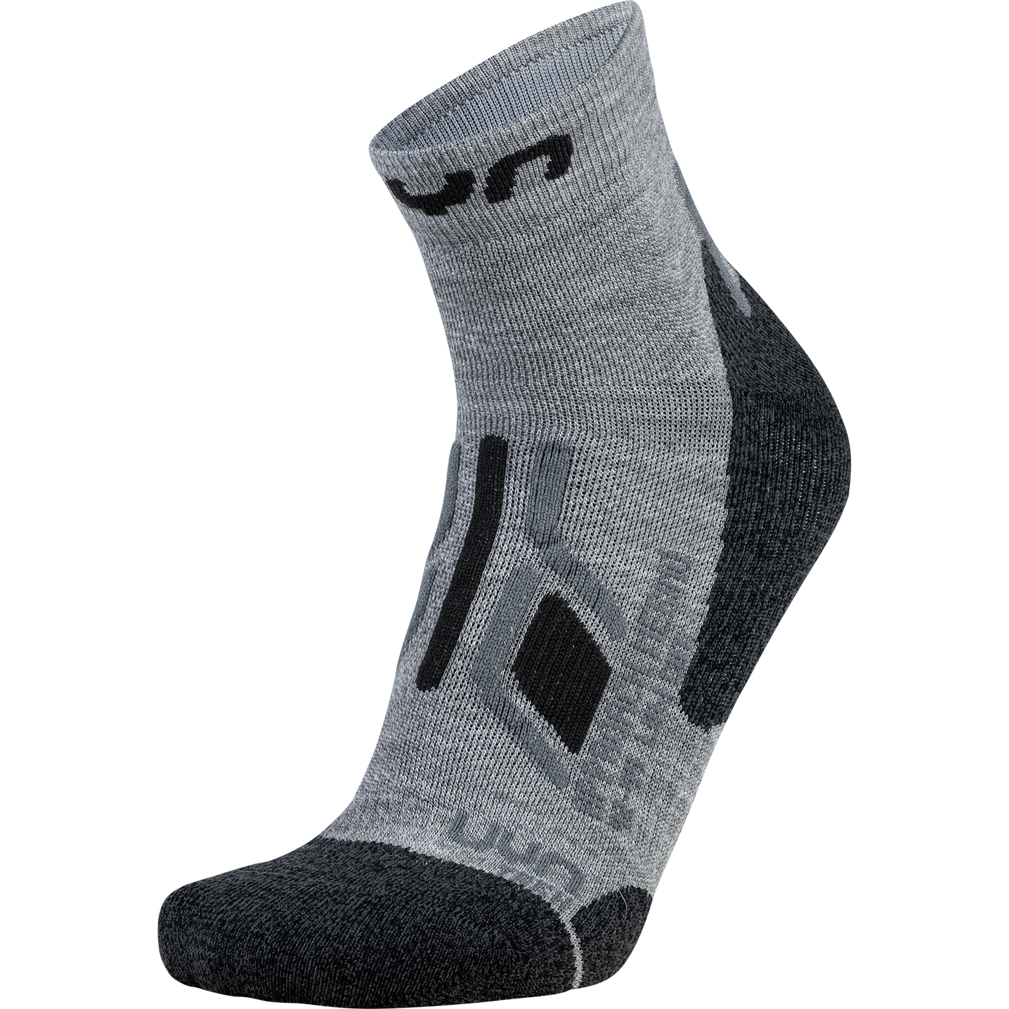 Image of UYN Man Trekking Approach Merino Low Cut Socks - Mid Grey