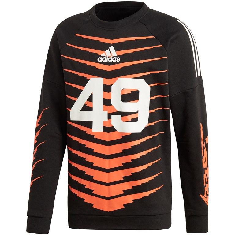 adidas Men's ID Graphic Sweatshirt - black DX9708