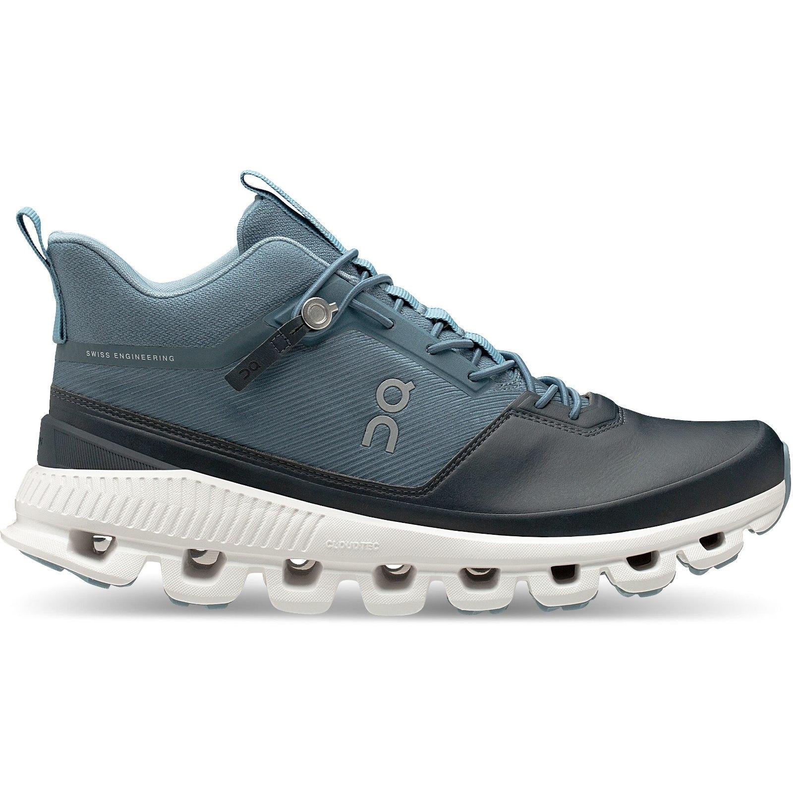 Produktbild von On Cloud Hi Damen Laufschuh - Dust & Navy