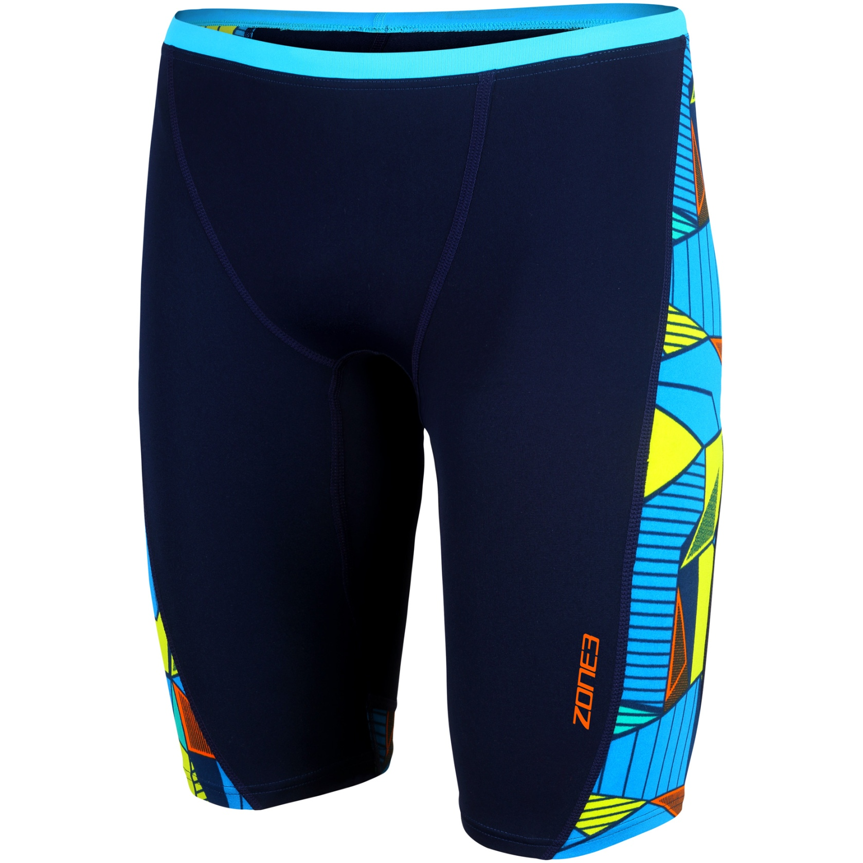 Zone3 Prism 2.0 Jammers Badehose - navy/yellow