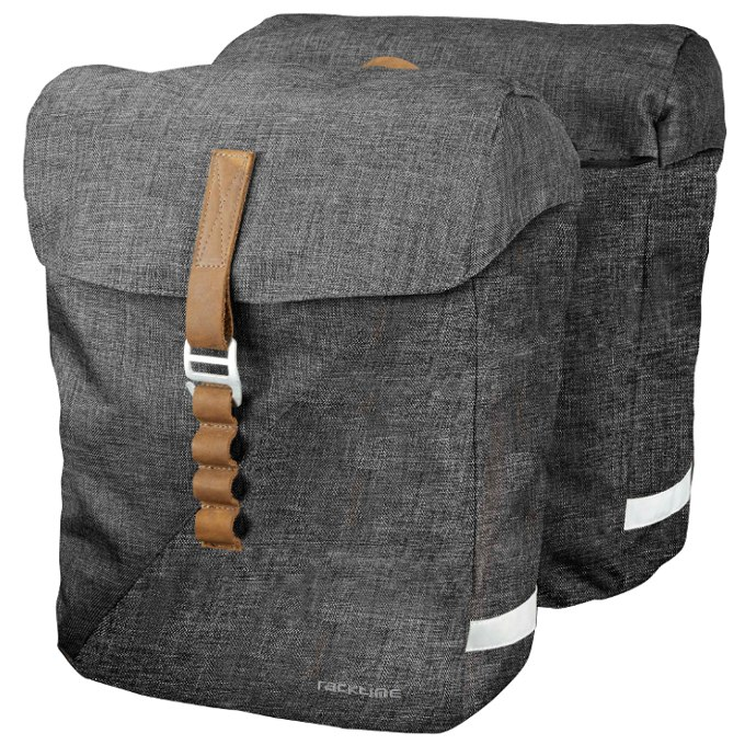 Racktime Heda Double Bag Pannier - Dust Grey