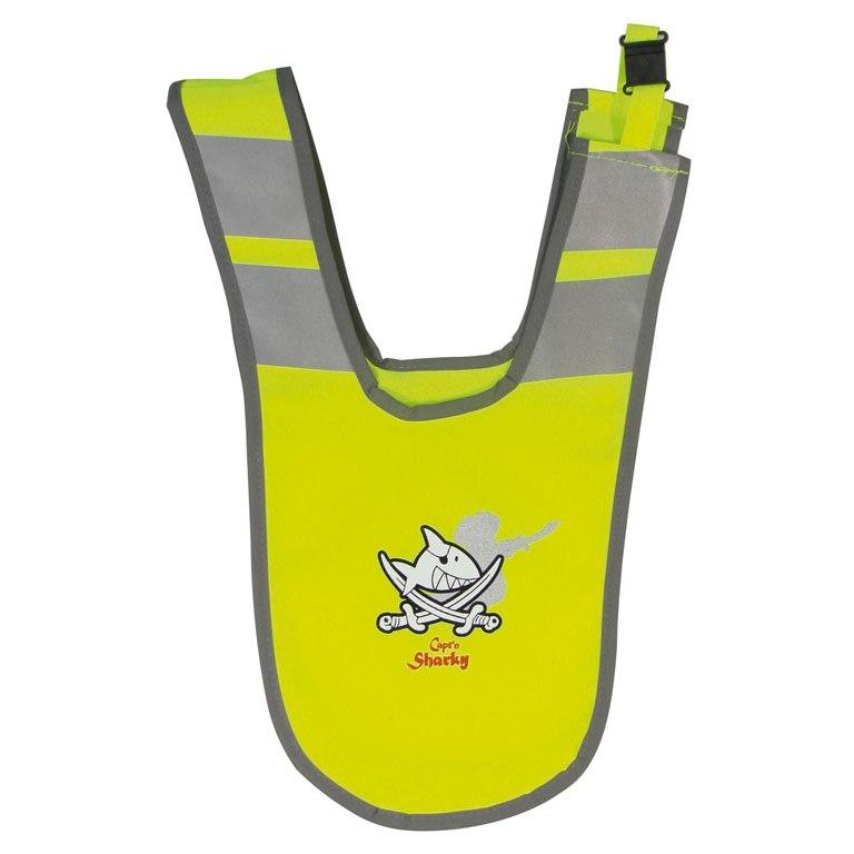 B-Lite Collar Kids Capt'n Sharky Reflective Collar for Kids - neon yellow