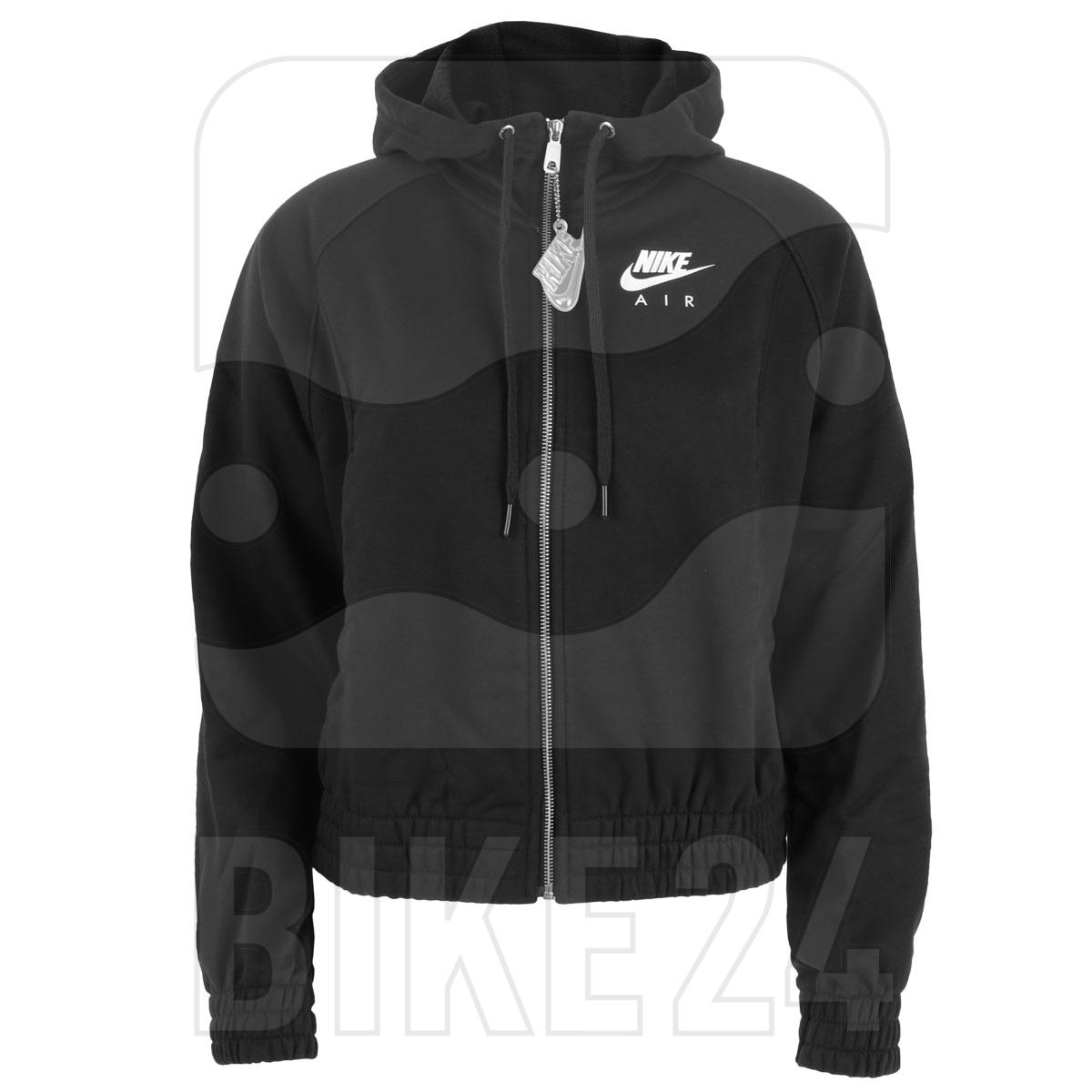 Nike Air Women's Full-Zip Fleece Hoodie - black/white CU5442-010