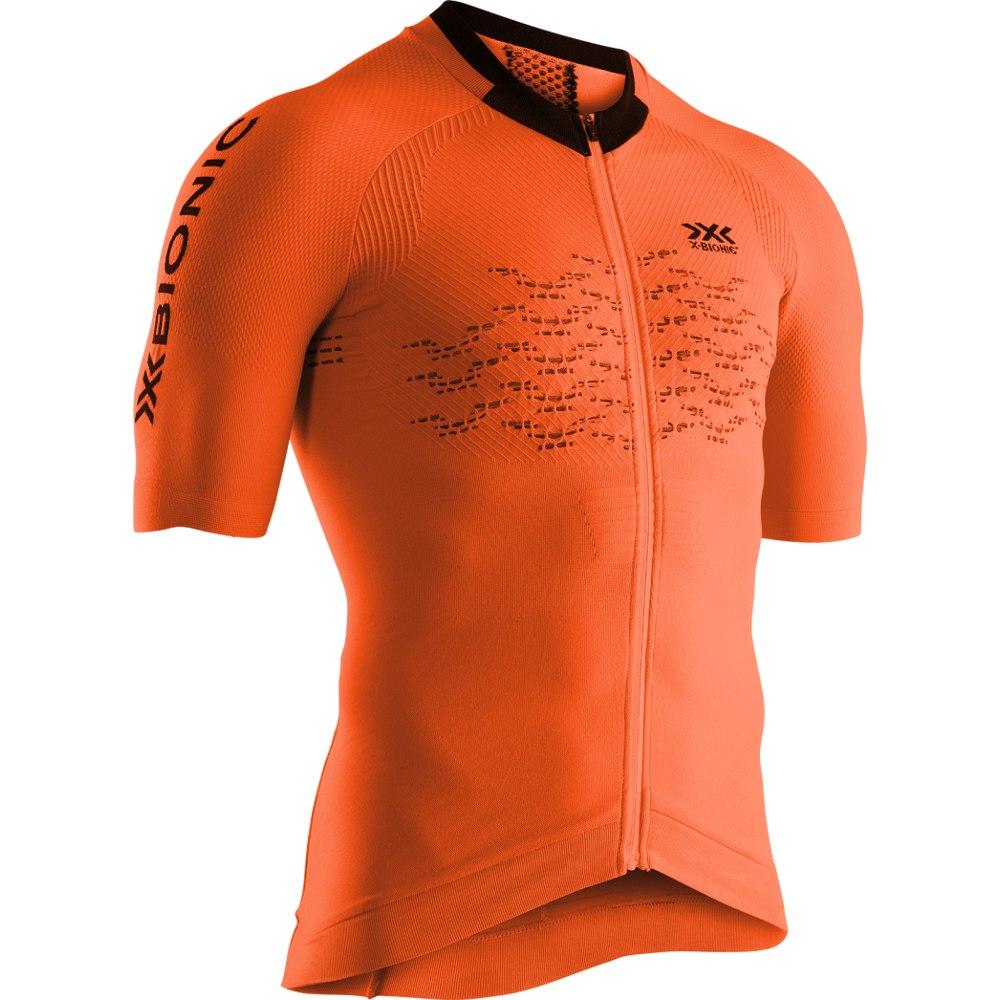 X-Bionic The Trick 4.0 Bike Full Zip Shirt Short Sleeves for Men - trick orange/opal black