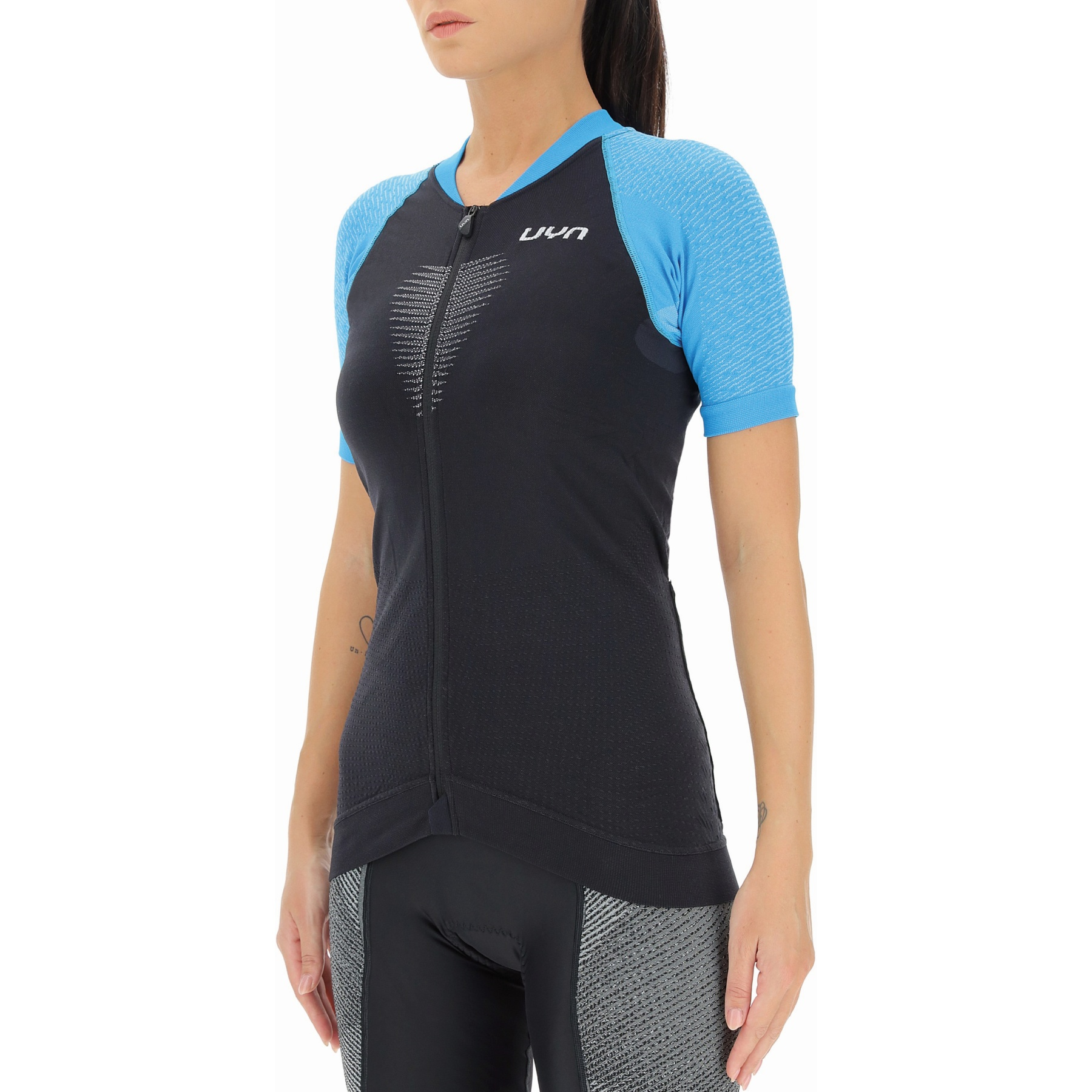 Bild von UYN Granfondo Damen Fahrrad Kurzärmliges Shirt - Blackboard/Danube Blue