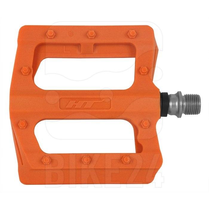 Produktbild von HT PA12 NANO P Flat Pedal Aluminium - neon orange
