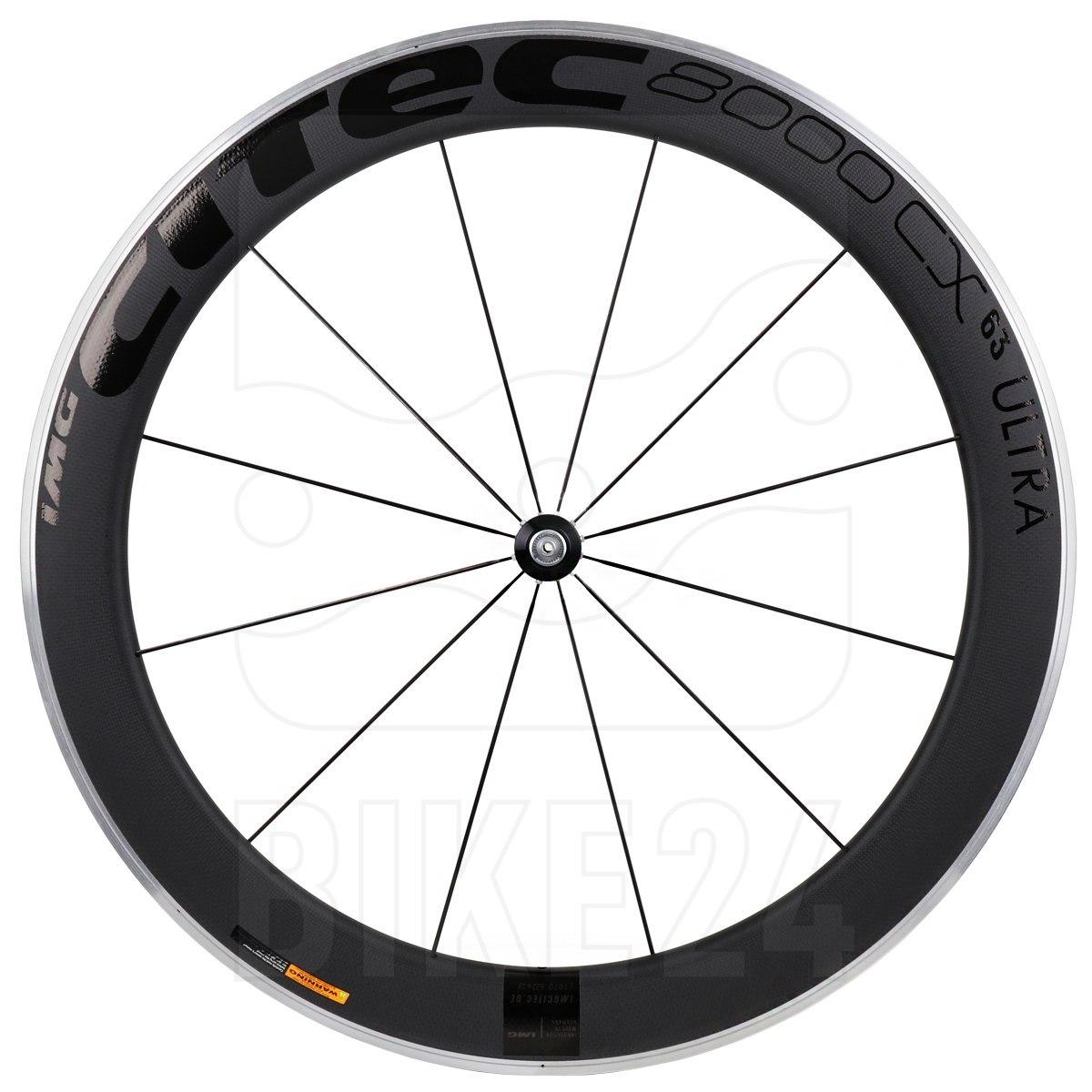 CITEC 8000 CX / 63 Ultra Carbon 28 Inch Front Wheel - Clincher - 9x100mm QR - black