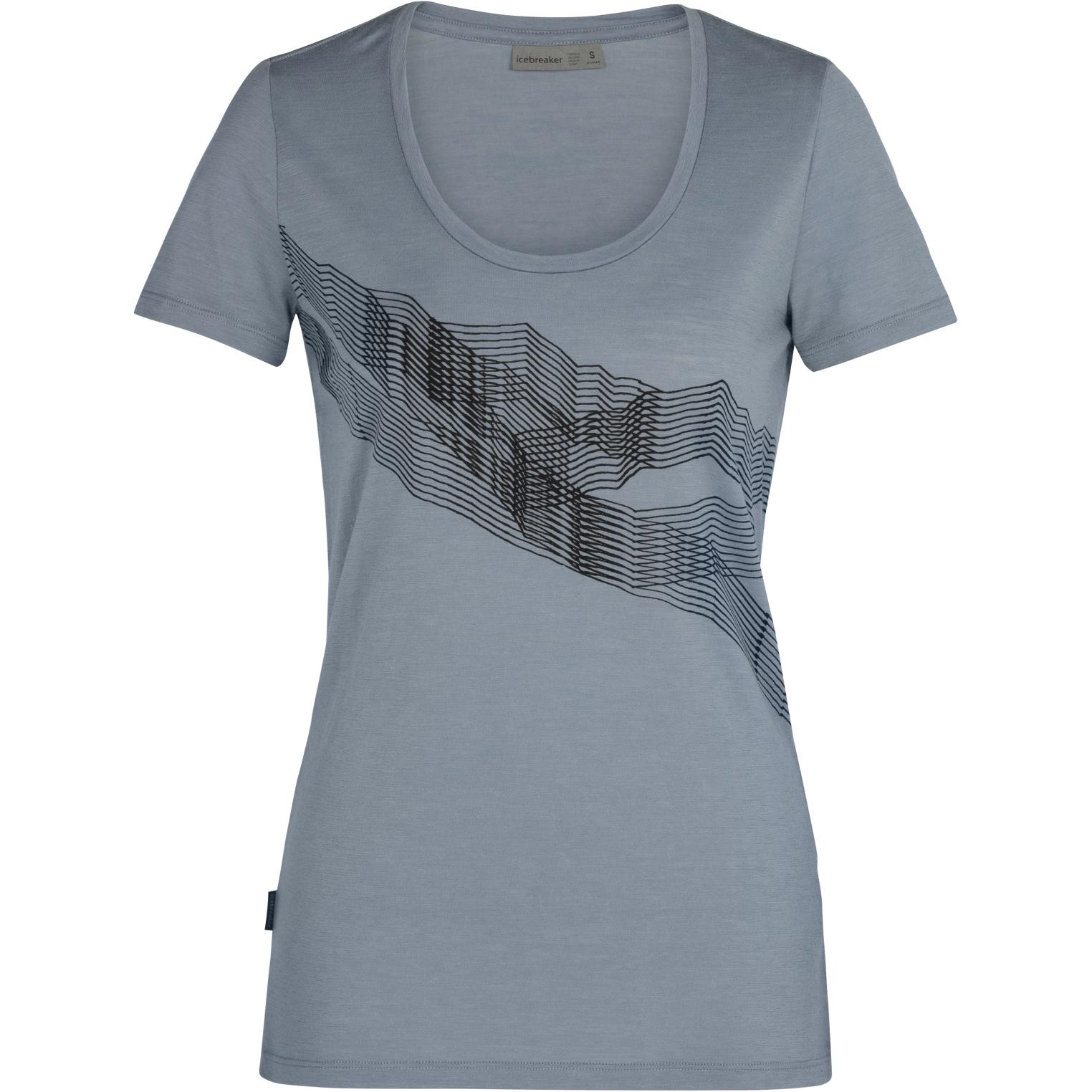 Produktbild von Icebreaker Tech Lite Scoop St Anton Damen T-Shirt - Gravel