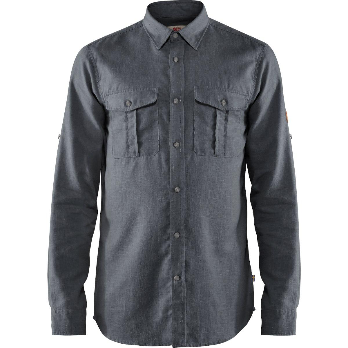 Fjällräven Övik Travel Long Sleeve Shirt - dusk