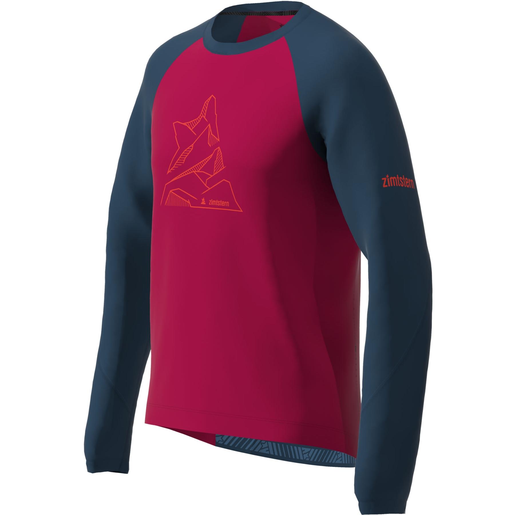 Bild von Zimtstern PureFlowz Langarm-Shirt - jester red/french navy
