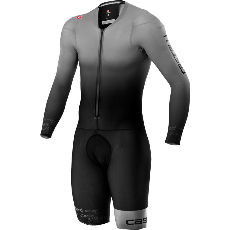 Castelli Body Paint 4.x Speed Suit LS - silver grey/black 870