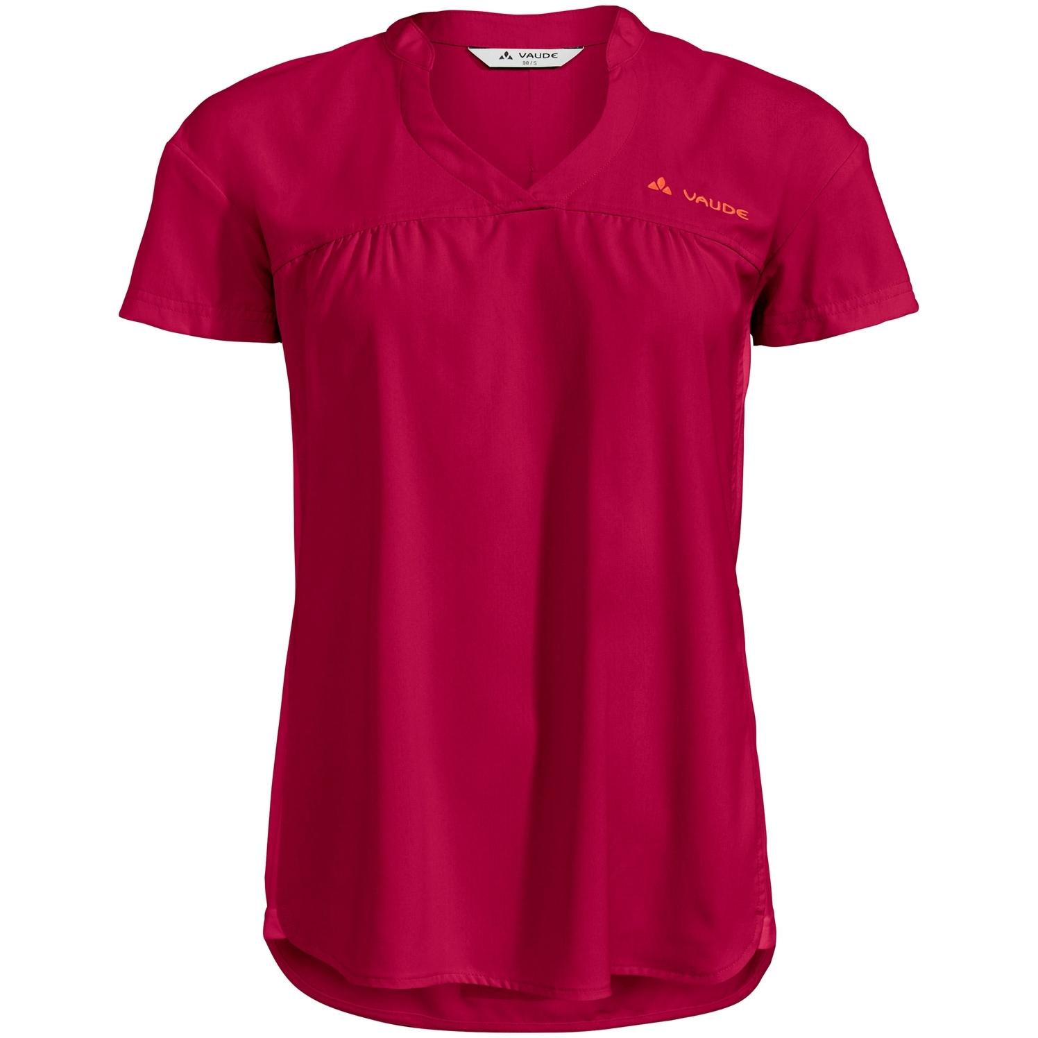 Vaude Turifo Damen Hybrid-Shirt - crimson red uni
