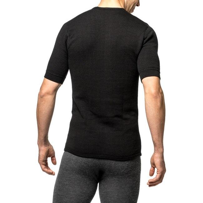 Bild von Woolpower Tee 200 Unisex Kurzarm-Unterhemd - schwarz